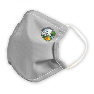 Herbruikbaar mondmasker met logo uit medisch textiel stof personaliseren