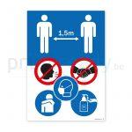 Poster met veiligheid pictogrammen corona covid-19