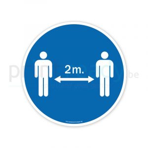 Autocollant de securite garde tes distances 2 metres