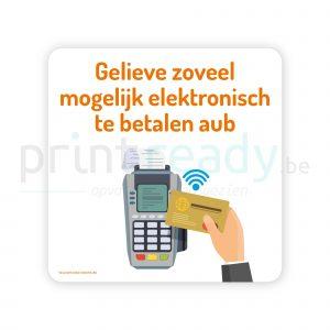 Veiligheid sticker Elektronisch betalen - Contactloos - Cashloos