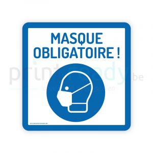 Autocollant de securite pictogram masque obligatoire
