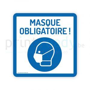Autocollant de securite pictogram masque obligatoire