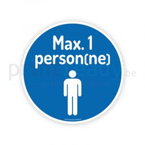 Autocollant de securite maximum 1 person