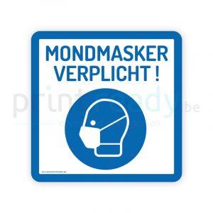 Veiligheid sticker pictogram mondmasker verplicht