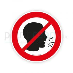 Veiligheid sticker hoestverbod - verboden te hoesten