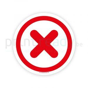 Veiligheid sticker Niet toegestaan / Onveilig / Fout
