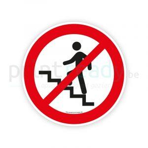 Veiligheid sticker Verboden trap te betreden