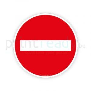 Veiligheid sticker Verboden - Geen doorgang