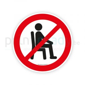 Veiligheid sticker Zitten verboden / Zitten niet toegestaan