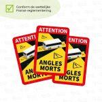 Dode hoek stickers frankrijk Bus/Autocar/Camper