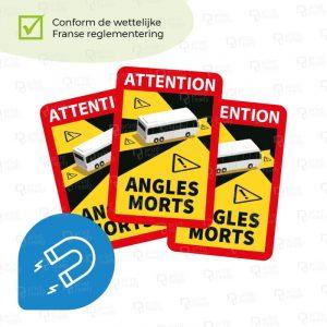 Dode hoek Magneetsticker - Dode hoek sticker magneet Frankrijk