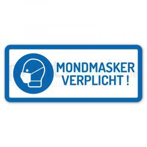 Sticker mondmasker verplicht