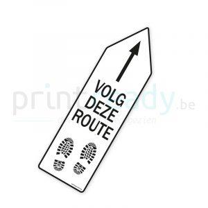 Bewegwijzering pijl sticker wegwijzer Volg deze route - Wit