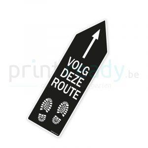 Bewegwijzering pijl sticker wegwijzer Volg deze route - Zwart