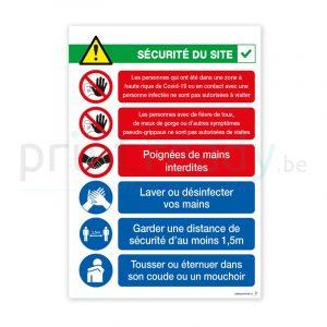 Poster autocollant Securite du site Francais