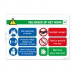 Zelfklevende poster Veiligheid op het werk Nederlands liggend