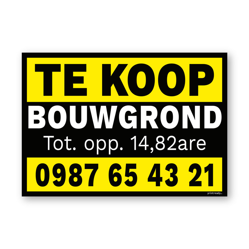Te Koop bord Duoprop