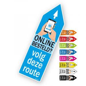 Route pijl sticker Online besteld? - Pijlsticker route pijlen Online besteld, volg deze route