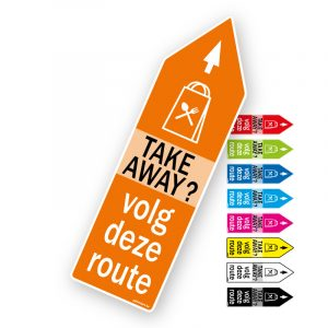 Route pijlsticker Take away - Pijlsticker route pijlen Take-away