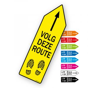 Route pijl sticker Volg deze route - Pijlsticker route pijlen