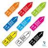 Pijlstickers Volg deze route - kleuren route pijlen sticker
