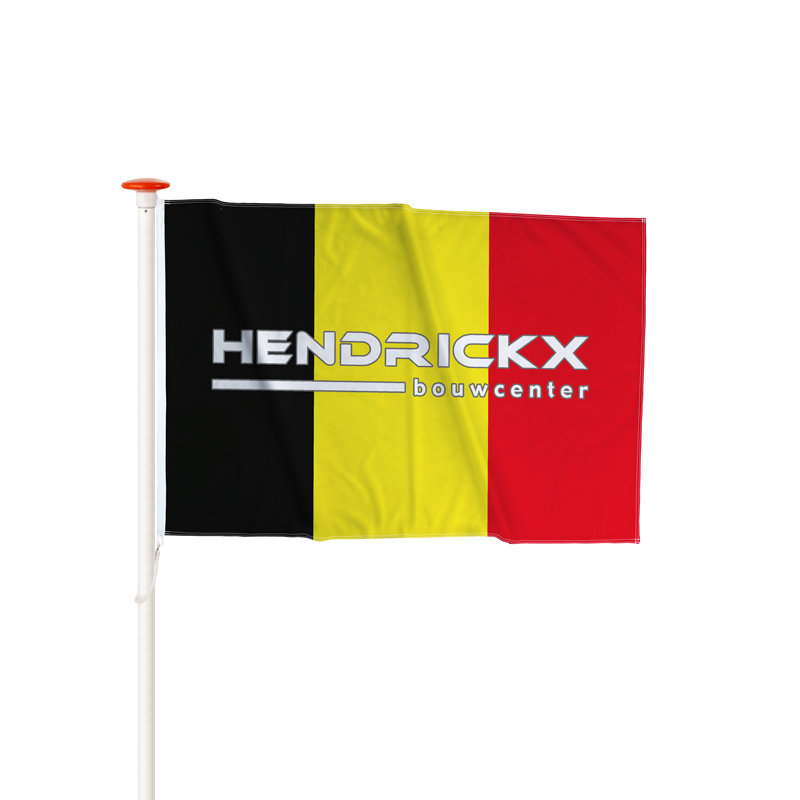 Vlag Belgie Logo opdruk Hendrickx Bouwcenter